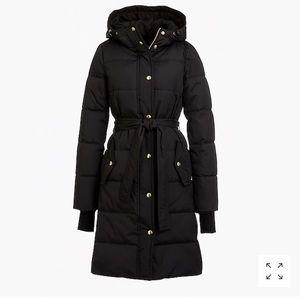 Jcrew mercantile long puffer coat
